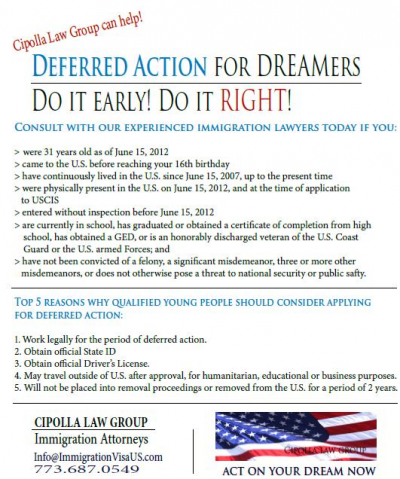deferred action for childhood arrivals essay Deferred action for childhood arrivals (daca) updates 150 150 office of immigrant affairs.