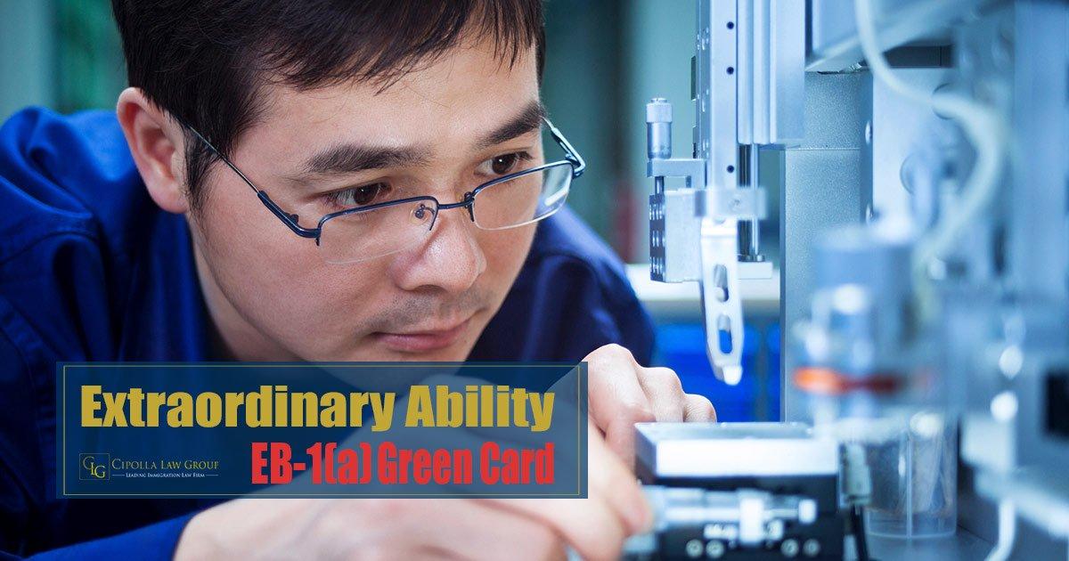 EB-1A Extraordinary Ability