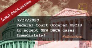 DACA Chicago Immigration attorneys USCIS must accept DACA cases